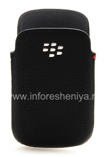 BlackBerry 9320 / 9220 কার্ভ জন্য মূল চামড়া কেস পকেট লেদার পকেট থলি