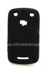 Чехол повышенной прочности перфорированный для BlackBerry 9360/9370 Curve, Черный/Черный