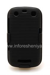 Пластиковый чехол + кобура для BlackBerry 9360/9370 Curve, Черный