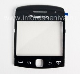 The original glass screen for BlackBerry 9360/9370 Curve, The black