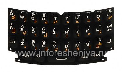 Оригинальная клавиатура для BlackBerry 9360/9370 Curve (другие языки), Черный, Арабский