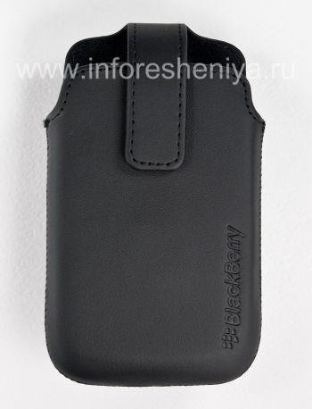 レザースイベルホルスターブラックベリー9360/9370カーブのクリップ付きオリジナルレザーケース