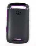Original Case durcis peau Premium pour le BlackBerry Curve 9360/9370, Noir / Violet (Noir / Violet)
