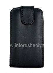Кожаный чехол с вертикально открывающейся крышкой для BlackBerry 9380 Curve, Черный с мелкой текстурой