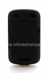 Пластиковый чехол + кобура для BlackBerry 9380 Curve, Черный