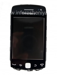 Тач-скрин (Touchscreen) в сборке с передней панелью для BlackBerry 9380 Curve, Черный