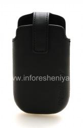 Оригинальный кожаный чехол с клипсой Leather Swivel Holster для BlackBerry 9380 Curve, Черный