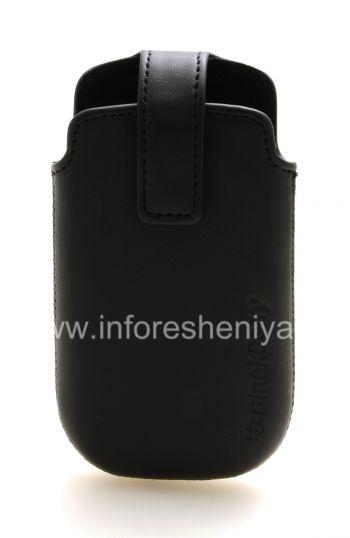 Оригинальный кожаный чехол с клипсой Leather Swivel Holster для BlackBerry 9380 Curve