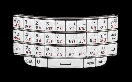 Белая русская клавиатура BlackBerry 9790 Bold, Белый