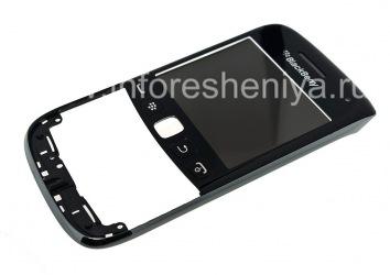 Тач-скрин (Touchscreen) в сборке с передней панелью и ободком для BlackBerry 9790 Bold, Черный