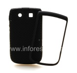 Cubra accidentado perforada para BlackBerry 9800/9810 Torch, Negro / Negro