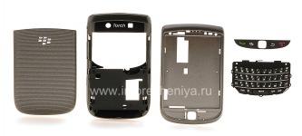 Farben-Fall für Blackberry 9800/9810 Torch, Grau Sparkling