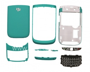 Kabinet Warna untuk BlackBerry 9800 / 9810 Torch, Turquoise Brushed