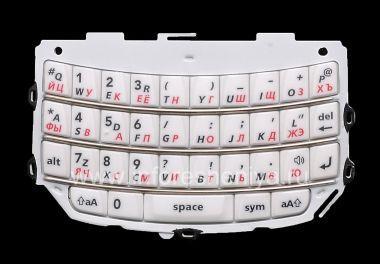 Купить Белая русская клавиатура BlackBerry 9800/9810 Torch