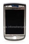 Фотография 1 — Оригинальный экран LCD в сборке со слайдером для BlackBerry 9800 Torch, Темный металлик (Charcoal), тип 001/111