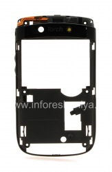 The middle part of the original case with all the elements for the BlackBerry 9800/9810 Torch, The black