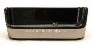 """Tischladestation """"Glass"""" für Blackberry 9800/9810 Torch (Kopie), metallisch"""