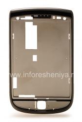 Слайдер с ободком для BlackBerry 9800/9810 Torch, Темный Металлик (Charcoal)