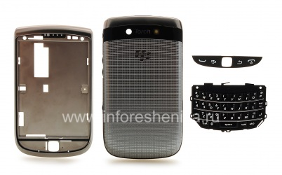 Оригинальный корпус для BlackBerry 9810 Torch, Серебряный (Silver)