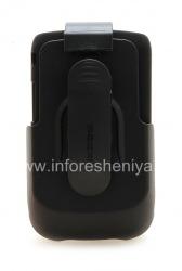 Фирменный пластиковый чехол + кобура Seidio Innocase Surface Combo для BlackBerry 9800/9810 Torch, Черный (Black)