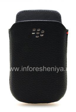 Купить Оригинальный кожаный чехол-карман с металлическим логотипом Leather Pocket для BlackBerry 9800/9810 Torch