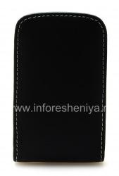 Фирменный кожаный чехол-карман ручной работы Monaco Vertical Pouch Type Leather Case для BlackBerry 9800/9810 Torch, Черный (Black)
