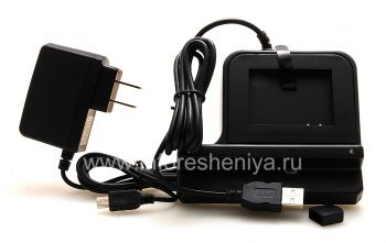 Фирменная док-станция для зарядки телефона и аккумулятора Mobi Products Cradle для BlackBerry 9800/9810 Torch