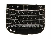 Оригинальная английская клавиатура в сборке с платой и трекпадом для BlackBerry 9900/9930 Bold Touch, Черный