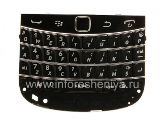 The original English keyboard assembly with the board and trackpad for BlackBerry 9900/9930 Bold Touch, The black