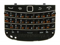 Russian keyboard assembly with the board and trackpad BlackBerry 9900/9930 Bold Touch, The black