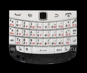 Белая русская клавиатура в сборке с платой и трекпадом BlackBerry 9900/9930 Bold Touch, Белый