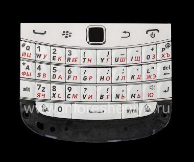 Купить Белая русская клавиатура в сборке с платой и трекпадом BlackBerry 9900/9930 Bold Touch