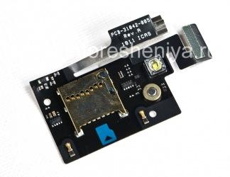 Слот карты памяти (Memory Card Slot) с вибратором, вспышкой и медиа-микрофоном для BlackBerry 9900/9930 Bold