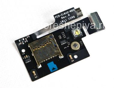 Купить Слот карты памяти (Memory Card Slot) с вибратором, вспышкой и медиа-микрофоном для BlackBerry 9900/9930 Bold
