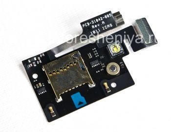 バイブレータとメモリカードスロット(メモリカードスロット)、およびBlackBerry 9900/9930 Boldためのフラッシュメディアマイク