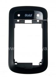 Средняя часть оригинального корпуса с поддержкой NFC для BlackBerry 9900/9930 Bold Touch, Черный