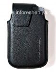 Оригинальный кожаный чехол с клипсой Leather Swivel Holster для BlackBerry 9900/9930/9720, Черный