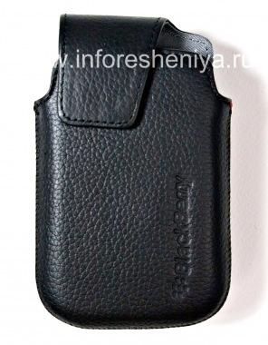 Купить Оригинальный кожаный чехол с клипсой Leather Swivel Holster для BlackBerry 9900/9930/9720