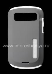 Фирменный чехол повышенной прочности Incipio Silicrylic для BlackBerry 9900/9930 Bold Touch, Серый/Белый (Gray/White)