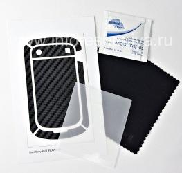 """Фирменный набор текстурных защитных пленок для экрана и корпуса BodyGuardz Armor для BlackBerry 9900/9930 Bold Touch, Черный, текстура """"Carbon Fiber"""""""