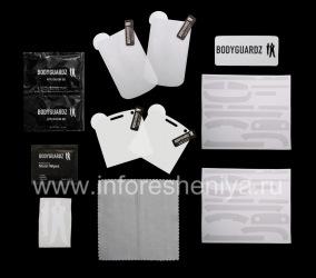 Фирменный набор Ультрапрочных прозрачных защитных пленок для экрана и корпуса BodyGuardz UltraTough Clear Skin (2 набора) для BlackBerry 9900/9930 Bold Touch, Прозрачный