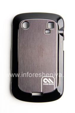Купить Фирменный пластиковый чехол-крышка с алюминиевой вставкой Case-Mate Barely There Brushed Aluminum Case для BlackBerry 9900/9930 Bold Touch