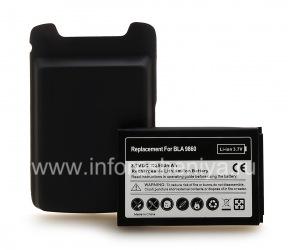Hochleistungsakku für Blackberry 9850/9860 Torch, Dunkelgrau (cover)