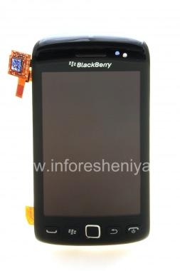 Купить Оригинальный экран LCD в сборке с тач-скрином и передней панелью для BlackBerry 9850/9860 Torch