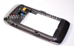 Средняя часть оригинального корпуса со всеми элементами для BlackBerry 9850/9860 Torch, Черный