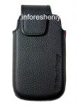 Оригинальный кожаный чехол с клипсой Leather Swivel Holster для BlackBerry 9850/9860 Torch, Черный