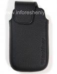 Оригинальный кожаный чехол-карман Leather Pocket для BlackBerry 9850/9860 Torch, Черный