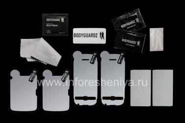 Фирменный набор Ультрапрочных прозрачных защитных пленок для экрана и корпуса BodyGuardz UltraTough Clear Skin (2 набора) для BlackBerry 9850/9860 Torch, Прозрачный