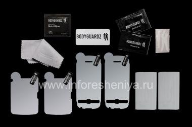 Купить Фирменный набор Ультрапрочных прозрачных защитных пленок для экрана и корпуса BodyGuardz UltraTough Clear Skin (2 набора) для BlackBerry 9850/9860 Torch