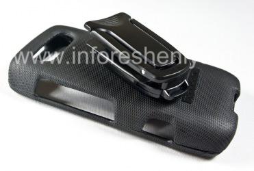 Фирменный чехол + крепление на ремень Body Glove Flex Snap-On Case для BlackBerry 9850/9860 Torch, Черный